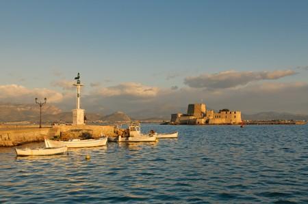 bourtzi castle, nafplion, greece