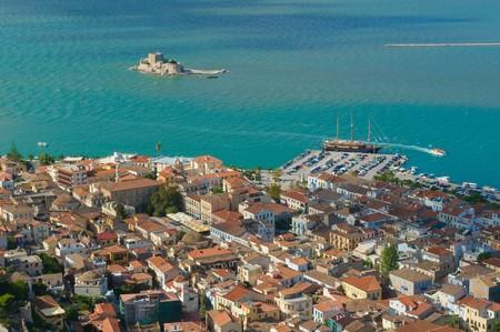 bourtzi: bourtzi castle, nafplion, greece