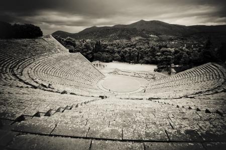 ruins of epidaurus theater, peloponnese, greece photo