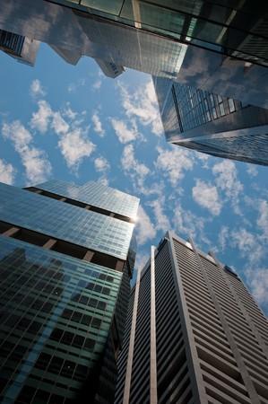 skyscrapers, typical urban cityscape photo