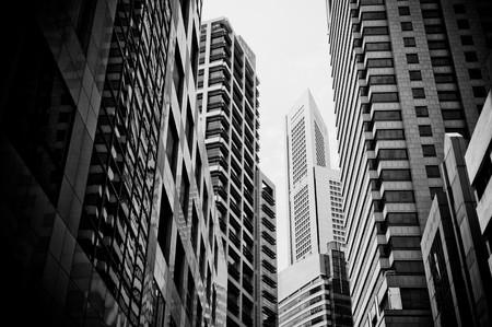 edificio industrial: rascacielos, t�pico paisaje urbano
