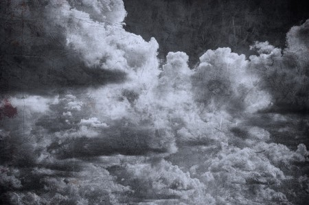 dark cloud: grunge cloudy sky, perfect halloween background Stock Photo