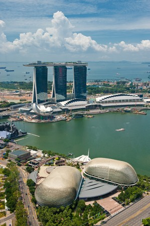 marina life: Panorama of Singapore Editorial