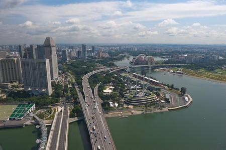 Singapore Flyer, world biggest ferris wheel photo