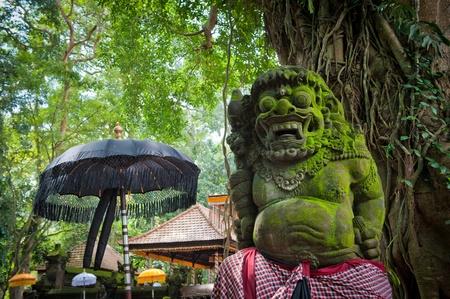 ubud: Statue of Balinese demon in Ubud Stock Photo