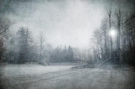 grunge image of winter landscape Stock Photo - 8295626