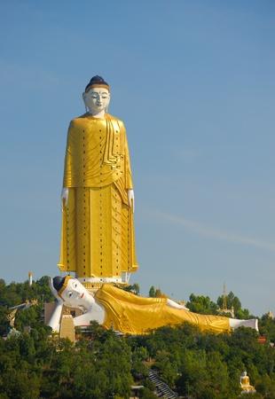 Giant Standing and Reclining Buddhas, Monywa, Myanmar photo