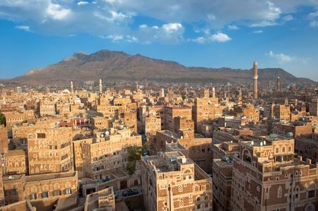 Panorama of Sanaa, Yemen photo