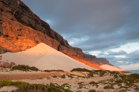 yemen: Sand dunes of Archer, Socotra island, Yemen Stock Photo