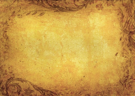 dark brown background: grunge floral background with space for text or image Stock Photo