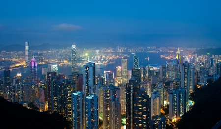 panorama of hong kong photo