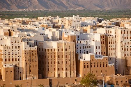 yemen: Panorama of Shibam, Hadhramaut province, Yemen Stock Photo
