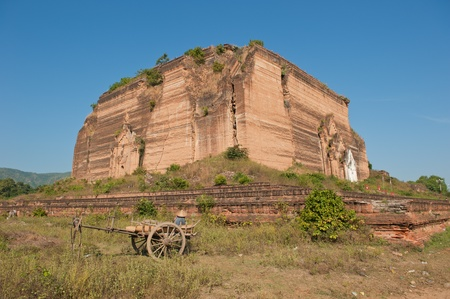 Ruined Mingun Temple, Myanmar photo