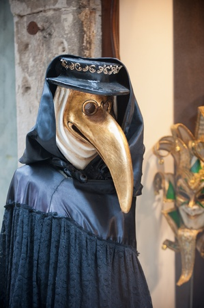 doctor mask: Beak doctor venetian mask Stock Photo