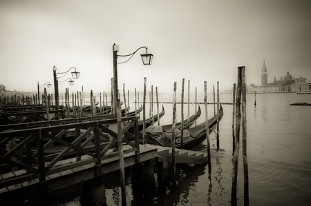 Gondolas at Grand Canal, Venice, Italy photo