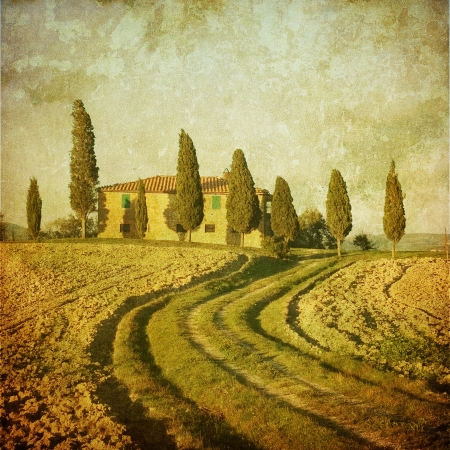 tuscany: vintage tuscan landscape Stock Photo