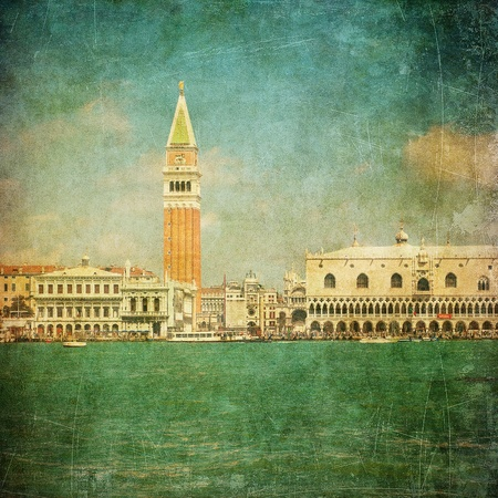Vintage image of Venice, Italy photo