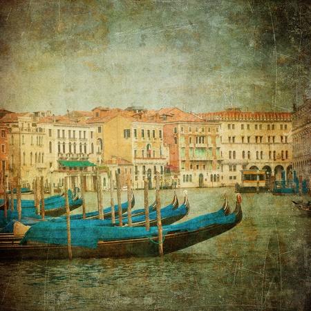 大运河,威尼斯的葡萄酒图象