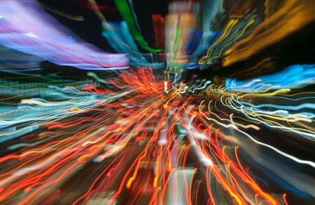 traffic lights in motion blur photo