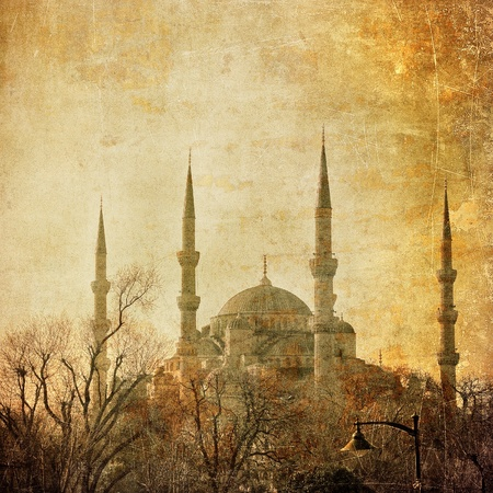 blue mosque: Vintage image of Blue Mosque, Istambul