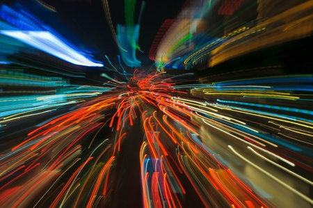 traffic lights in motion blur Stock Photo - 10482708