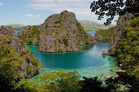 palawan: Kayangan lago o laguna azul, isla Coron, Filipinas