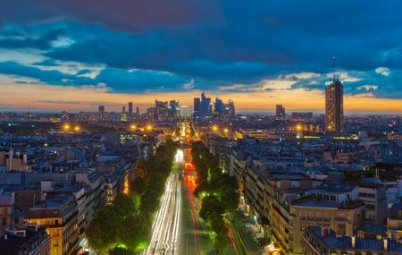 Panorama de Paris au coucher du soleil Banque d'images - 11096770