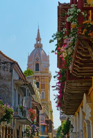 Straßen von Cartagena, Kolumbien