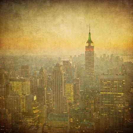 grunge image of new york skyline Stock Photo - 11368035