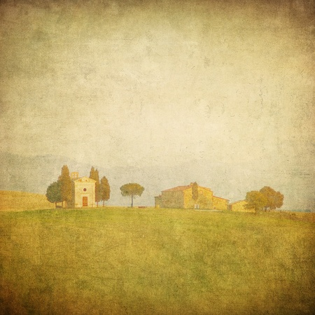 vintage tuscan landscape Stock Photo - 11368070