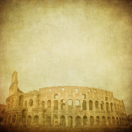 vintage image of coliseum photo