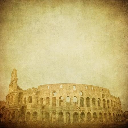 colosseum: vintage image of coliseum Stock Photo