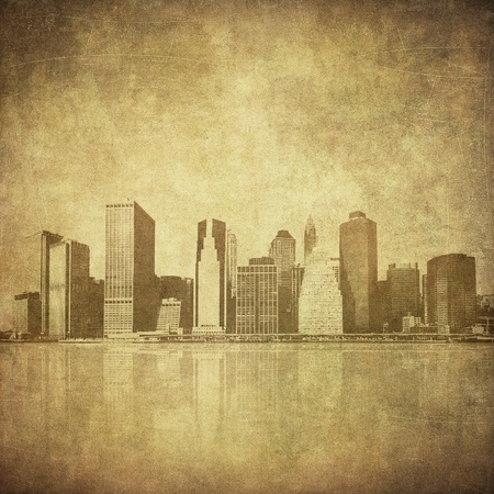 grunge image of new york skyline Stock Photo - 11368101