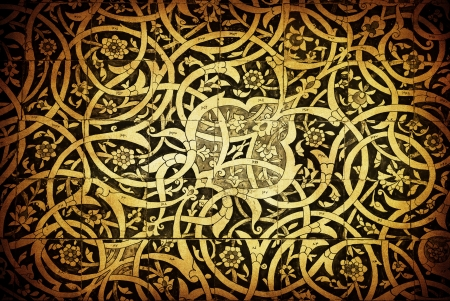 middle eastern: Tiled background, oriental ornaments from Uzbekistan  Stock Photo