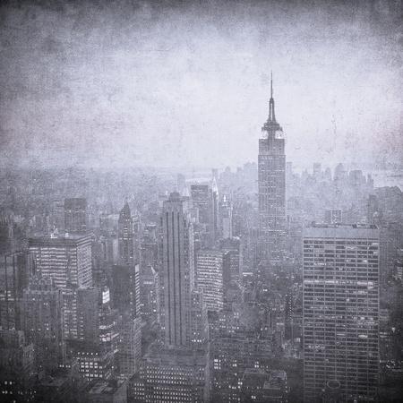 new york panorama: grunge image of new york skyline
