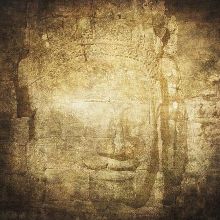 Faces of Bayon temple, Angkor, Cambodia photo