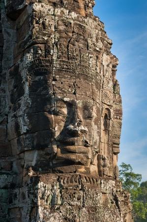 bayon: Faces of Bayon temple, Angkor, Cambodia Stock Photo