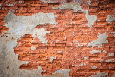 grunge brick wall, highly detailed textured background photo