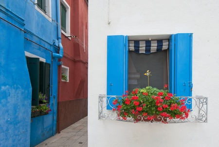 Colorful houses of Burano, Venice, Italy photo