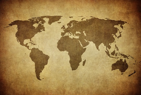vintage map of the world   Stock Photo