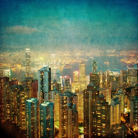 vintage image of hong kong photo