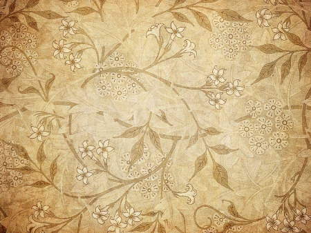 grunge wallpaper with floral pattern