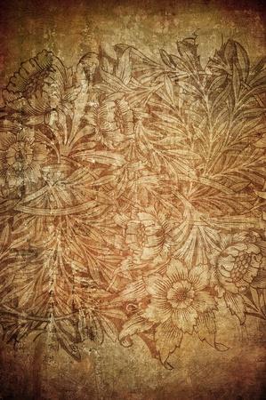 papel quemado: fondo floral grunge con espacio para texto o imagen