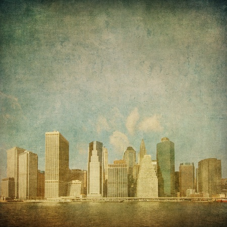 grunge image of new york skyline Stock Photo - 13094039