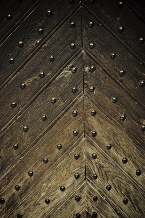 close-up image of ancient doors photo