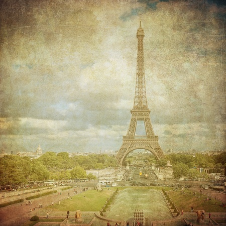 Vintage image of Eiffel tower, Paris, France Stock Photo - 13149337