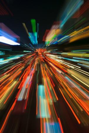 light speed: sem�foros en el desenfoque de movimiento