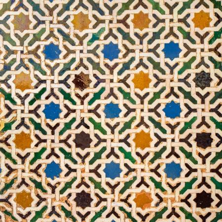 moorish: Tile decoration, Alhambra palace, Spain