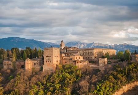 Panorama Blick auf Alhambra, Granada, Spanien
