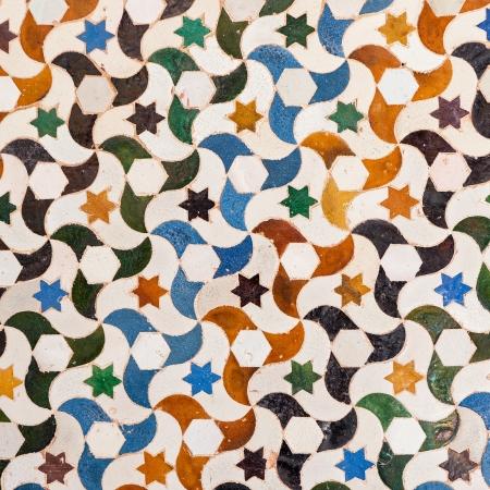 Tile decoration, Alhambra palace, Spain
